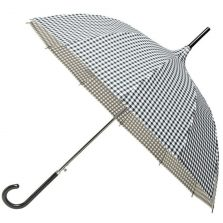 white black chequered pagoda umbrella