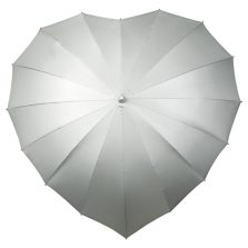 Silver UV heart umbrella