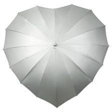 Silver UV heart umbrella