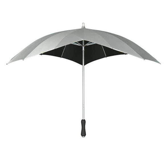 Silver heart umbrella