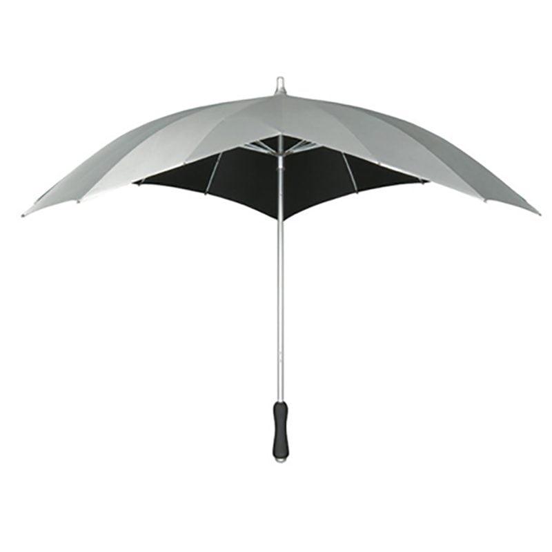 Silver heart umbrella