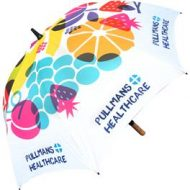 personalized umbrellas - spectrum wood promotional umbrella