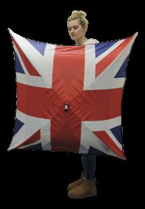 square Union Jack flag umbrella