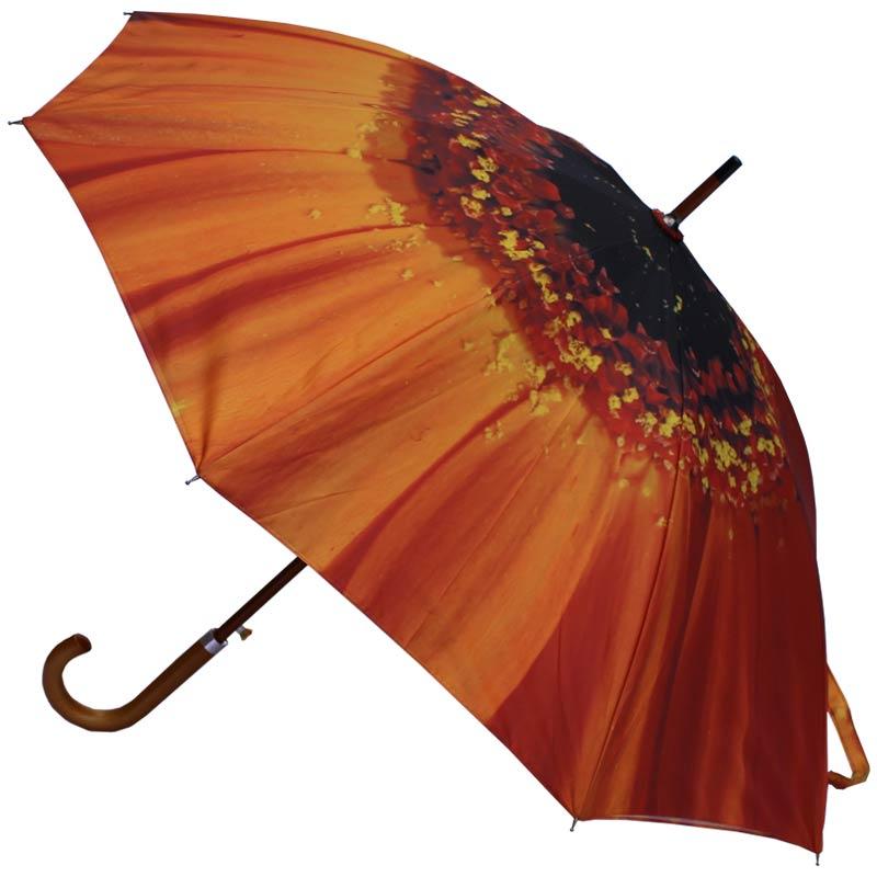 Orange Flower Umbrella