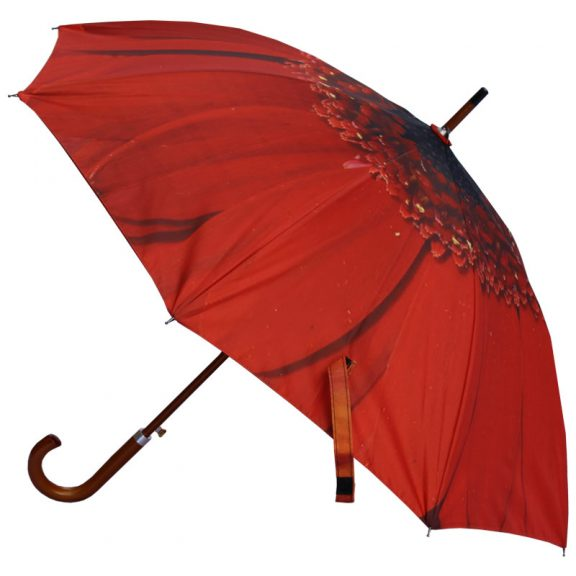 Red flower umbrella
