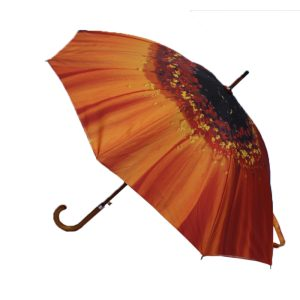 orange flower umbrella 3 orange flower umbrellas from Umbrella Heaven