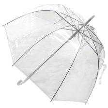 clear white umbrella / low cost umbrella clear dome white trim
