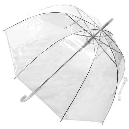 clear white umbrella / low cost umbrella clear dome white trim