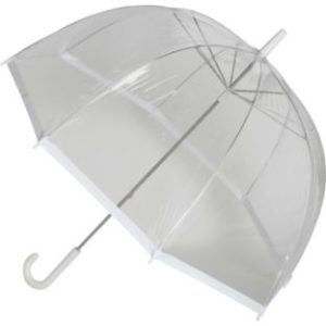low cost umbrella clear dome white trim