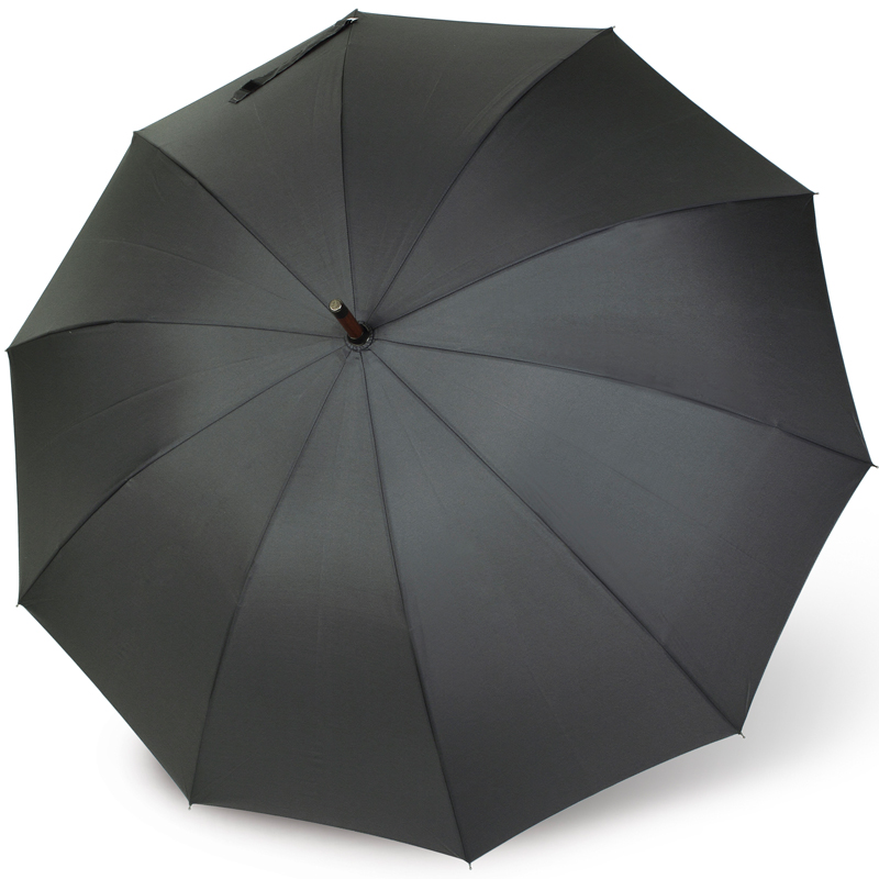 mens leather crook handle umbrella - telde by vogue