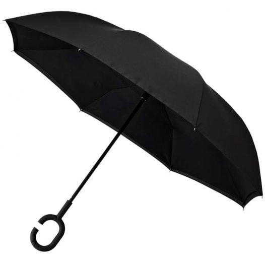 Inside Out Upside Down Umbrella Black