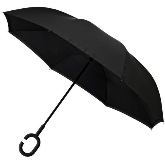 Inside Out Upside Down Umbrella Black
