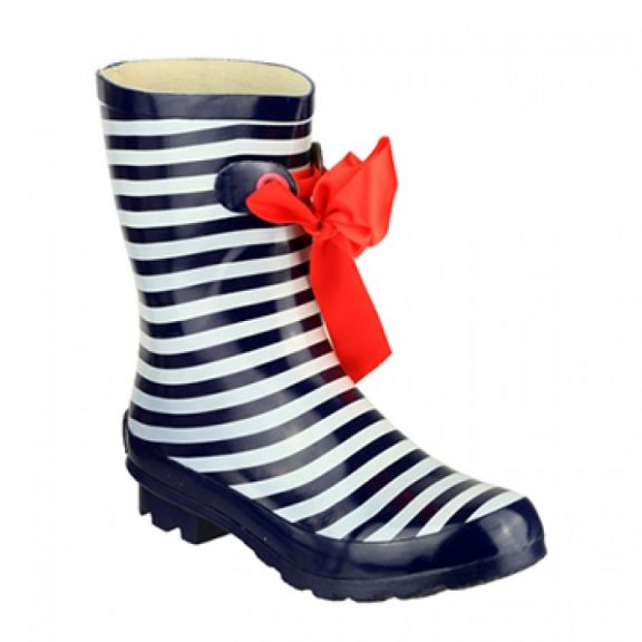 Ladies Striped Wellington Boots - Matilda