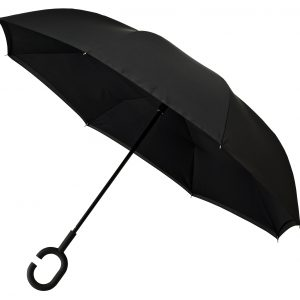 Upside Down Umbrella Black Open 1