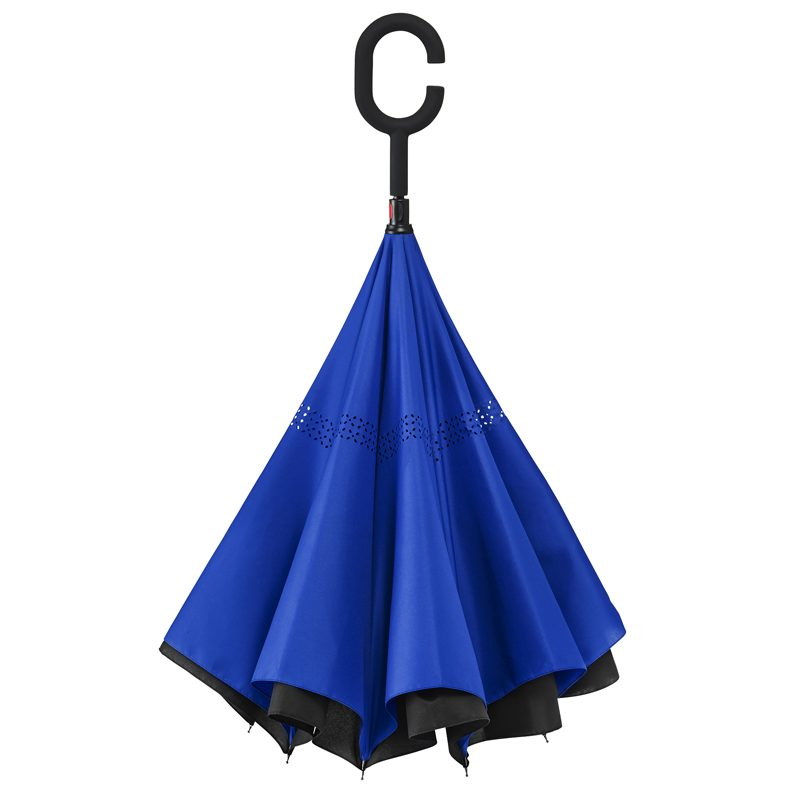 C Handle Umbrella Blue Standing