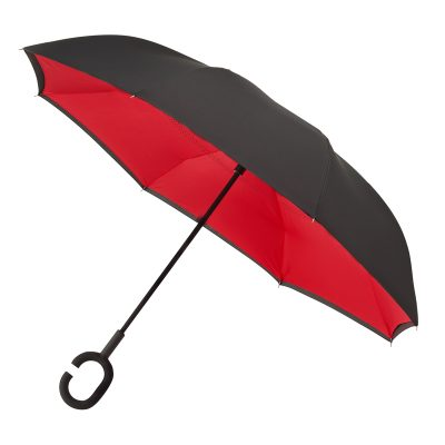 Upside Down Inside Out Reverse Umbrella Red Open 2