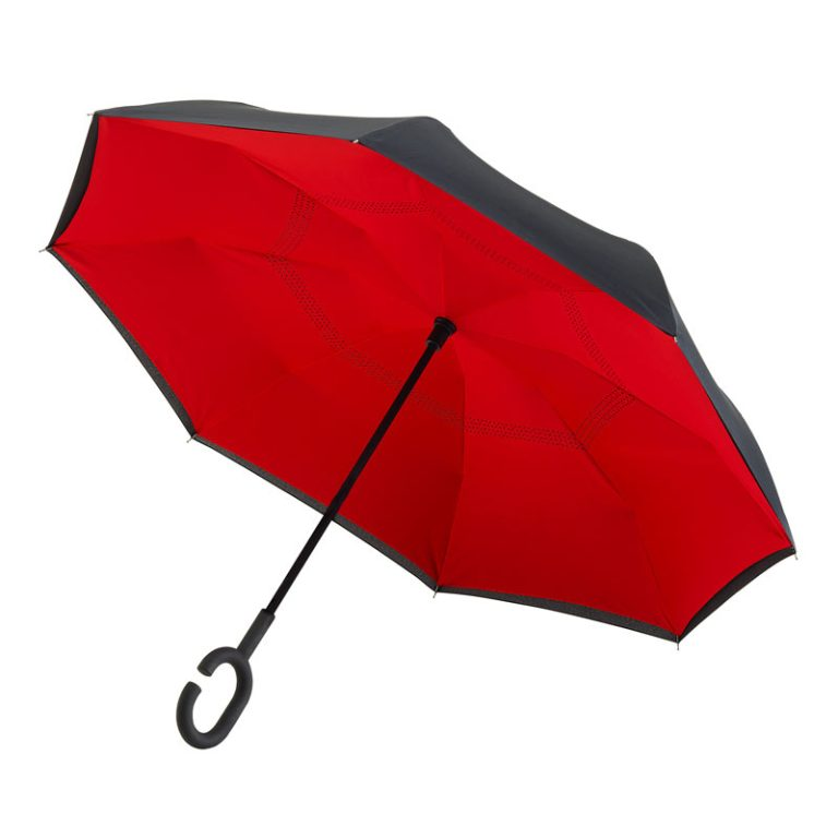 Red reverse Umbrella Canopy underside