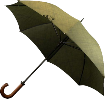 Khaki Umbrella Cutout
