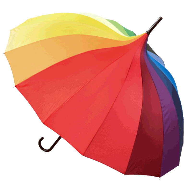 Rainbow Pagoda Umbrella Cutout