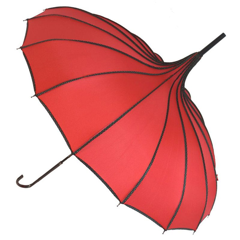 Red Pagoda Umbrella - Princess
