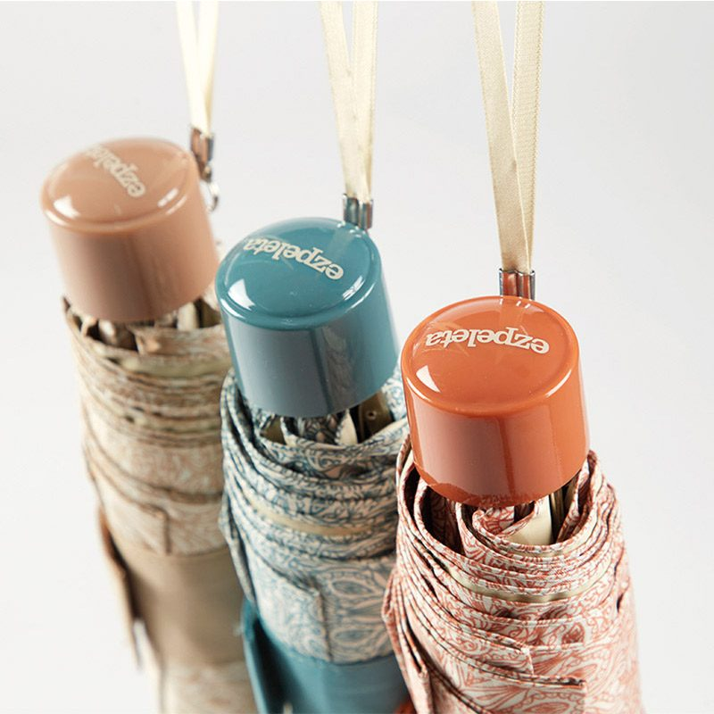 Ezpeleta Patterned UV Umbrellas handles close up