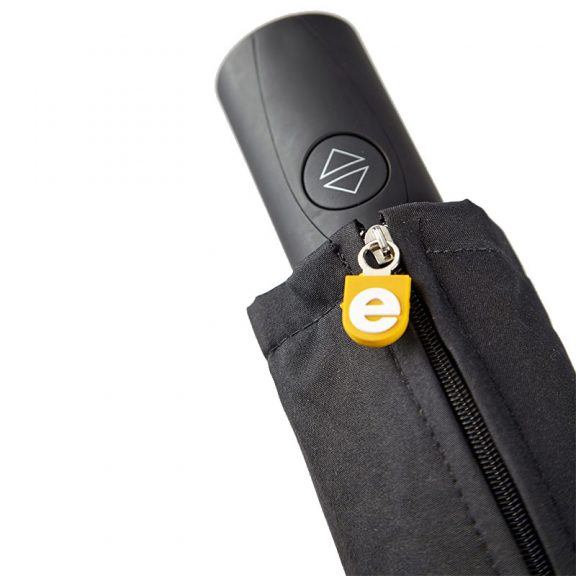 Ezpeleta Fully Automatic Black Folding Zipped Sleeve Umbrella close up
