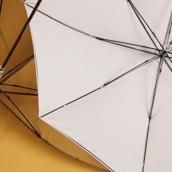 Ezpeleta 2 Tone Striped Double Sided Umbrella underside