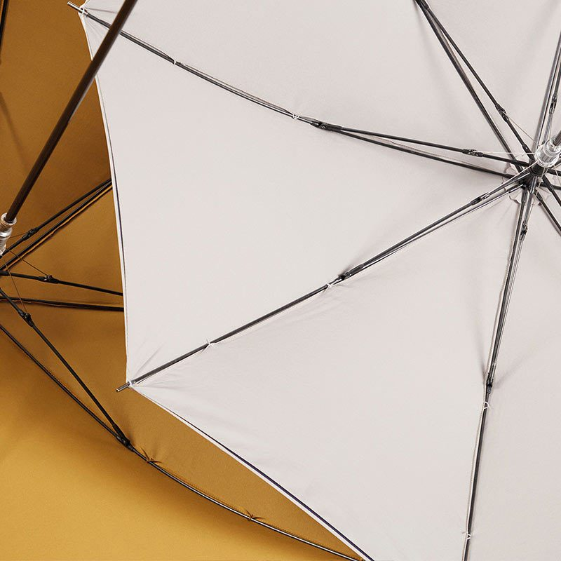 Ezpeleta 2 Tone Striped Double Sided Umbrella underside