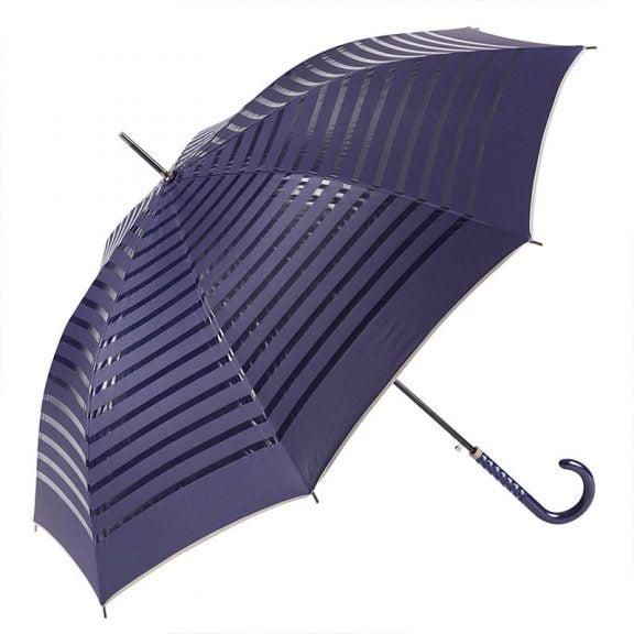 Ezpeleta 2 Tone Striped Double Sided Umbrella 2 open