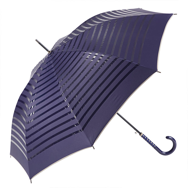 Ezpeleta 2 Tone Striped Double Sided Umbrella 2 open