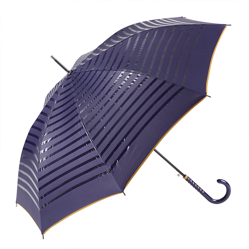 Ezpeleta 2 Tone Striped Double Sided Umbrella 1 open