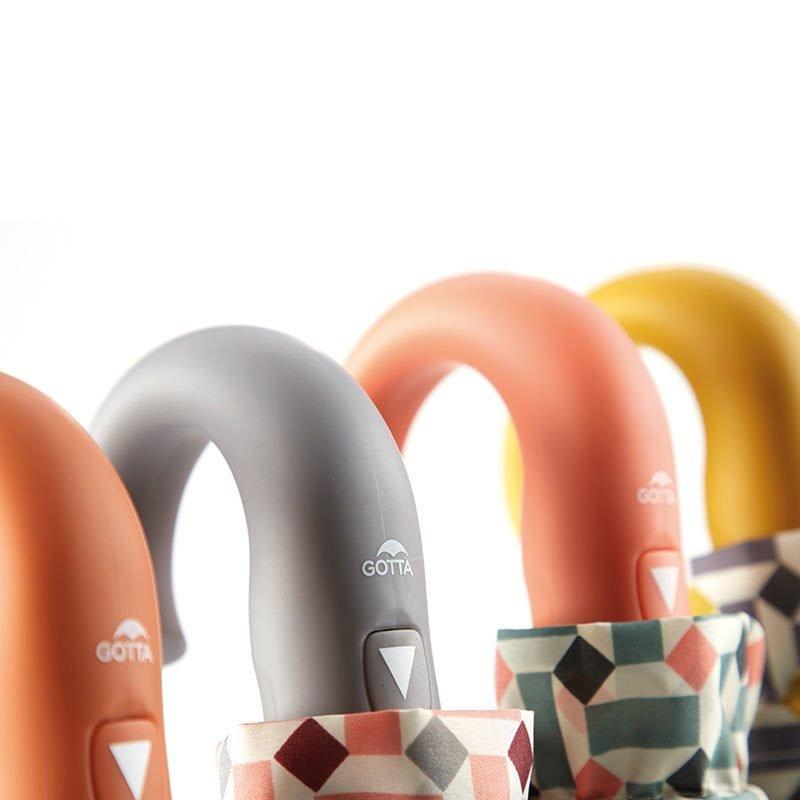 Ezpeleta Retro Geometric Print Folding Umbrellas handles