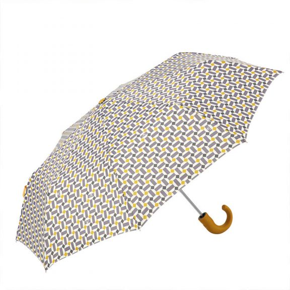 Ezpeleta Retro Geometric Print Folding Umbrella 1 open