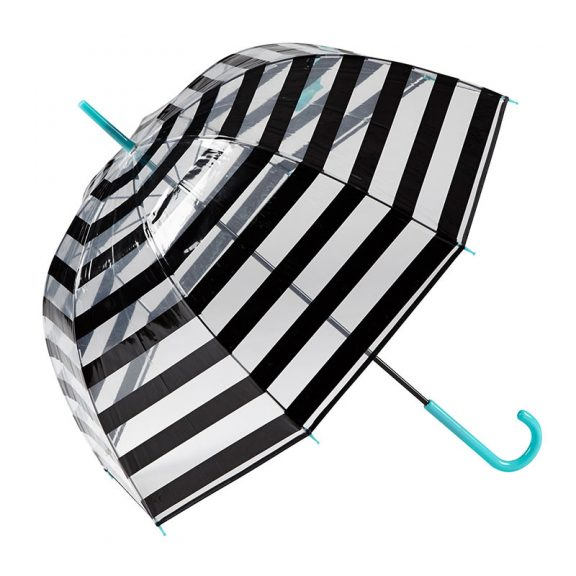 Gotta Striped Clear Dome Umbrella 1 open