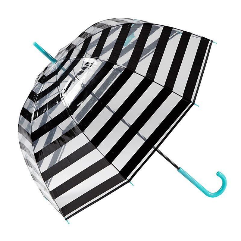 Gotta Striped Clear Dome Umbrella 1 open