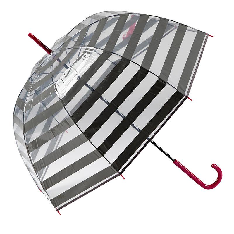 Gotta Striped Clear Dome Umbrella 2 open