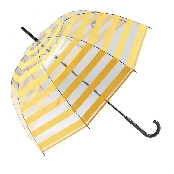 Gotta Striped Clear Dome Umbrella 3 open