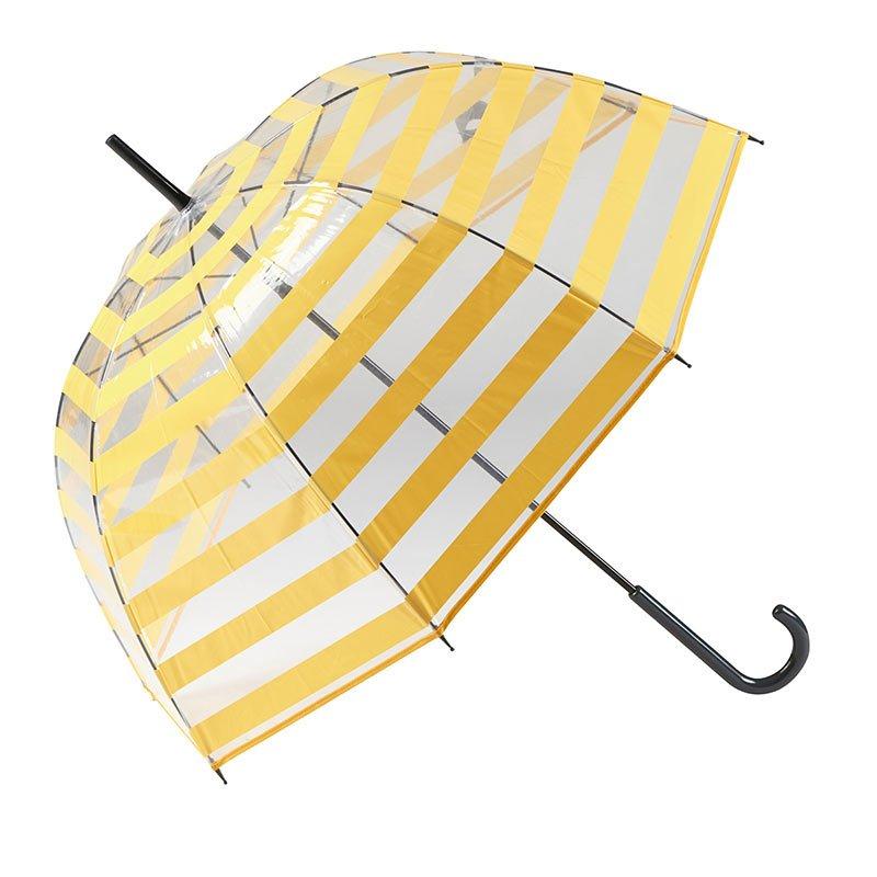 Gotta Striped Clear Dome Umbrella 3 open