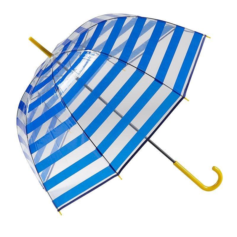 Gotta Striped Clear Dome Umbrella 4 open