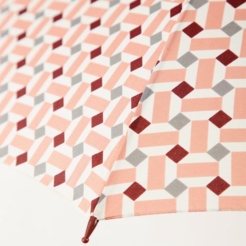 Ezpeleta Vintage Geometric Print Umbrella fabric close up