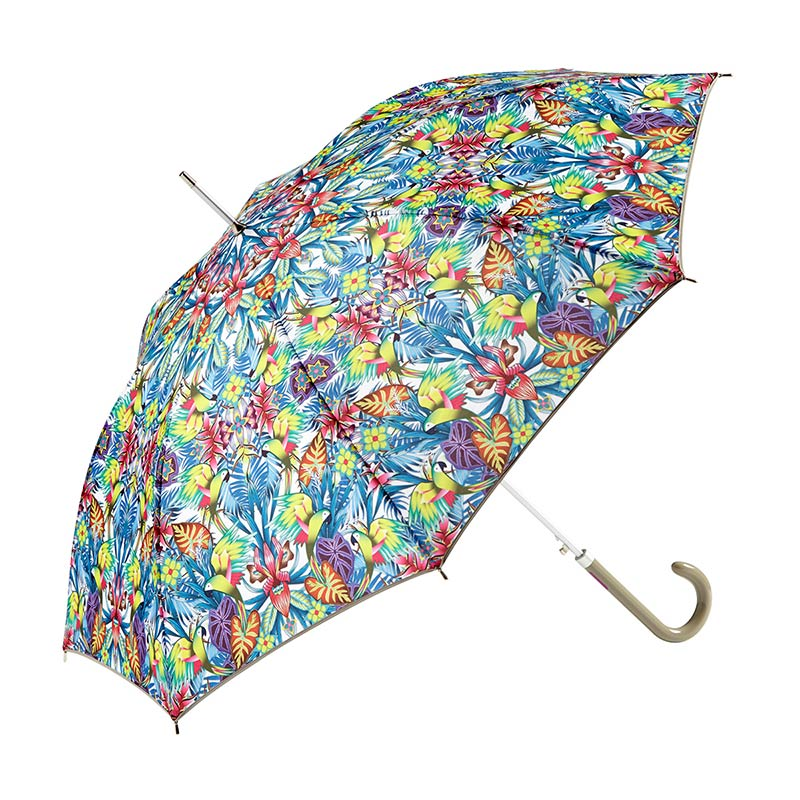 Ezpeleta Tropicana Floral Automatic Umbrella 4 open