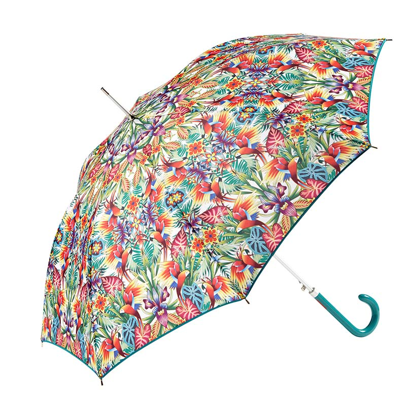 Ezpeleta Fashion Umbrellas Tropicana Floral Automatic Umbrella 2 open