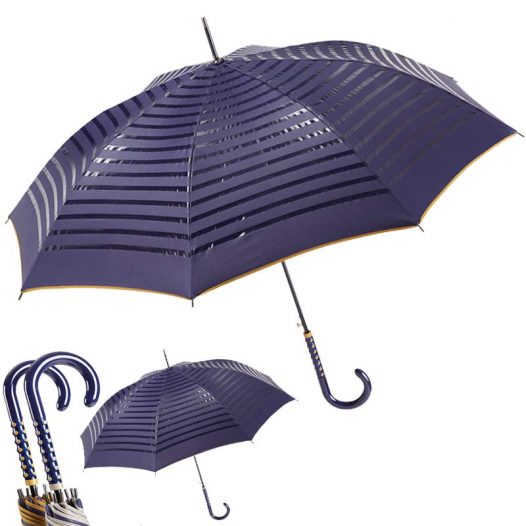 EZPELETA 2 TONE STRIPED DOUBLE SIDED UMBRELLA