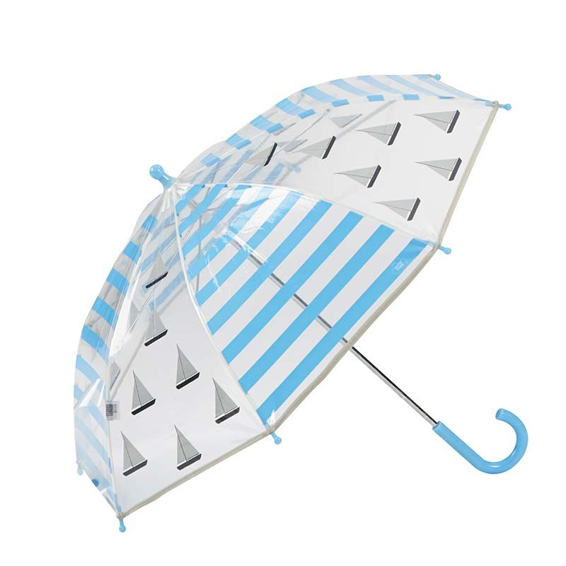 Sailing Boats Kids Clear Umbrella 1 open