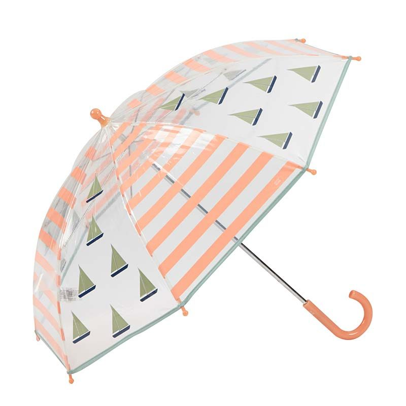 Sailing Boats Kids Clear Umbrella 2 open