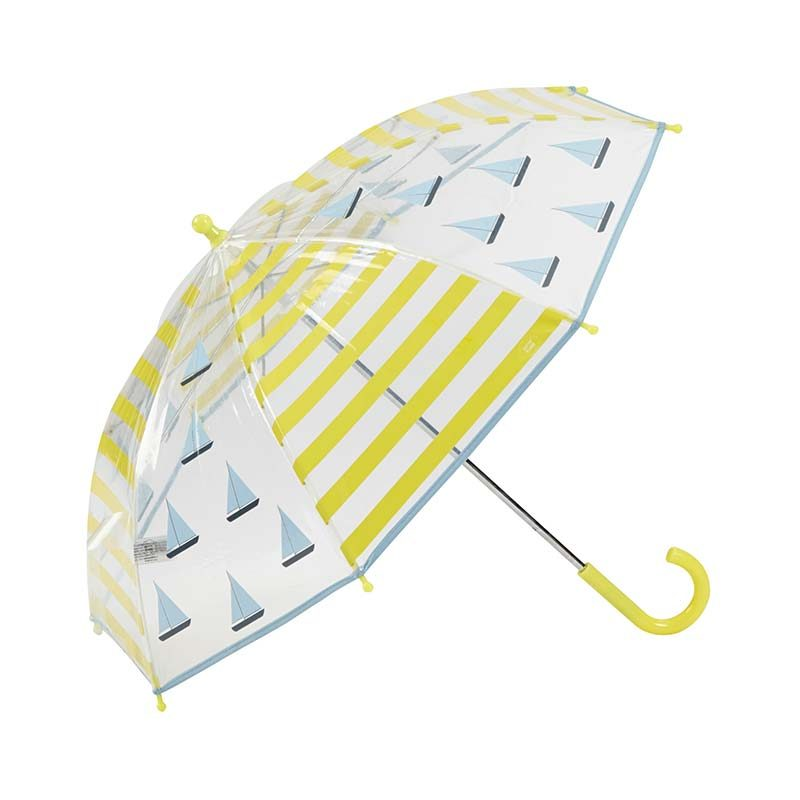 Sailing Boats Kids Clear Umbrella 3 open