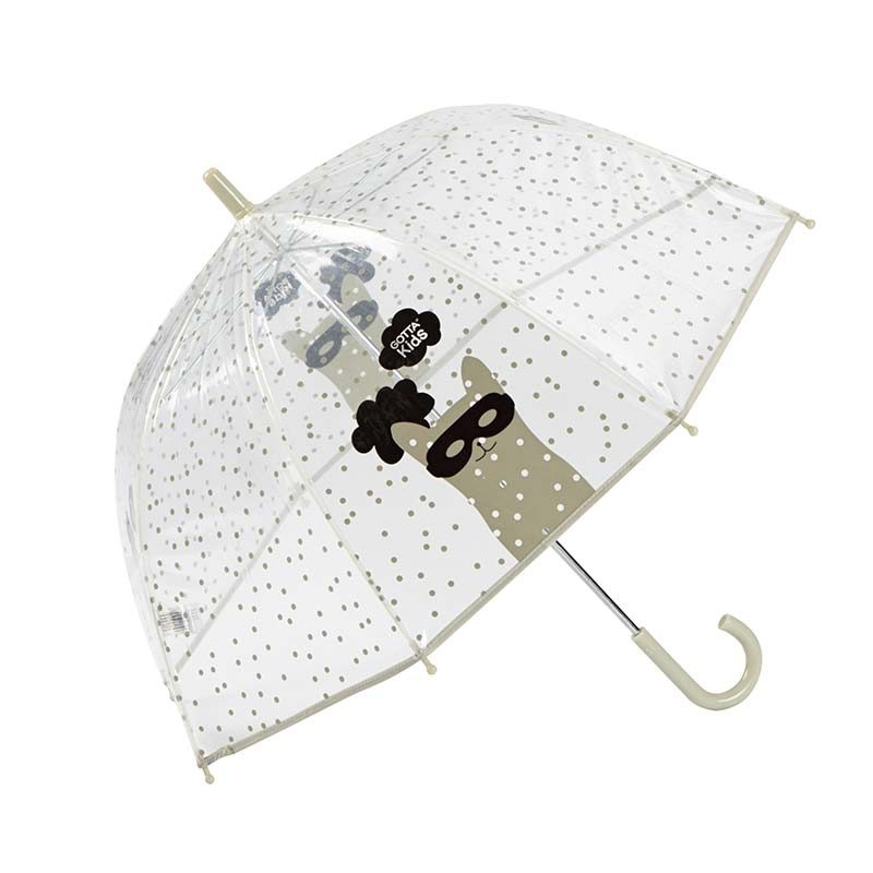 Cat Mask Kids Clear Umbrella 1 open