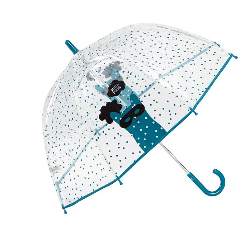 Cat Mask Kids Clear Umbrella 3 open