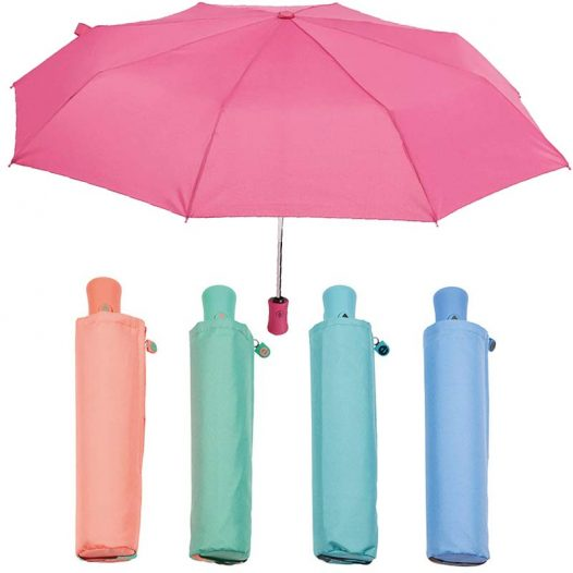 Automatic folding zipped sleeve umbrella