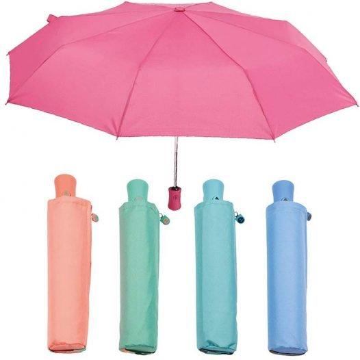 Automatic folding zipped sleeve umbrella